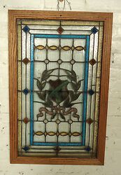 Beautiful Rare Vintage Stained Glass Window 05461ns