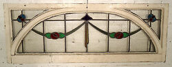 Antique Vintage Stained Glass Transom Window 05561ns