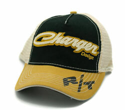 Dodge Charger Patch Logo American Muscle Car Adult Adjustable OSFA Cap Mesh Hat