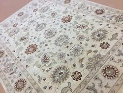8and039.0 X 10and039.3 Beige Brown Ziegler All Over Oriental Area Rug Hand Knotted Wool