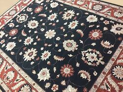 7and039.10 X 10and039.0 Black Rust Ziegler All-over Oriental Area Rug Hand Knotted Wool