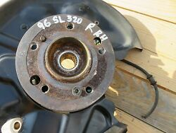 94-98 MERCEDES R129 SL320 REAR RIGHT WHEEL SPINDLE HUB BEARING BRAKE DISC OEM