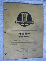 Iandt Ferguson Te20 To20 And To30 Tractor Shop Manual