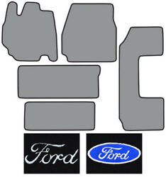 1995-1998 Ford Windstar 2pc Fronts 2 Runners And Side Door Cutpile Logo Floor Mat