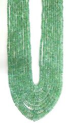501 Ct Faceted Emerald Gemstones 10 Strands Beads Necklace India