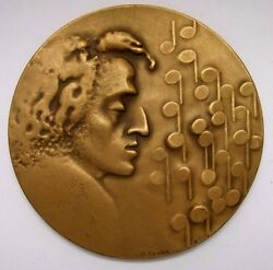 Bronze Medal Polish Composer Pianist Frederic Chopin 1980 By St.sikora 70mm N139