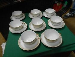 Beautiful Noritake Handpainted Retired Nippon Marquerite Set 8 Cups And Saucers