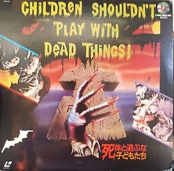 Children Shouldn't Play With Dead Things 1972 [ntsc/pands/ana] Laserdisc