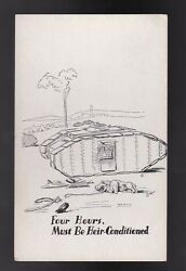 FOUR HOURS MUST BE HEIR CONDITIONED VINTAGE ARTISTS SIGNED POSTCARD ZITO