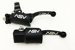 ASV Unbreakable F3 Black Shorty Clutch Brake Levers Dust Covers XR CRF 50 70 100