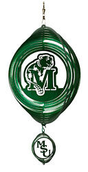 Swen Products Nd Minot State Beavers Green Swirly Combo Metal Wind Spinner