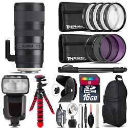 Tamron 70-200mm G2 For Nikon + Professional Flash And More - 16gb Accessory Kit
