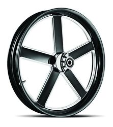 Dna Victory Black Forged Billet 18 X 3.5 Front Wheel Harley Touring