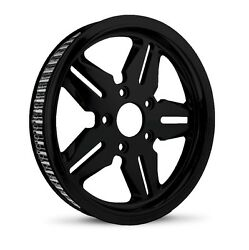 Dna Icon Gloss Black Rear Pulley 70t 1-1/2 Harley Touring Flht/r/x/fltr