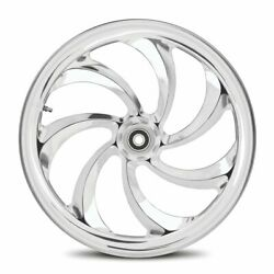 Dna Storm Chrome Forged Billet 23 X 3.75 Front Wheel Harley 2000+ Touring