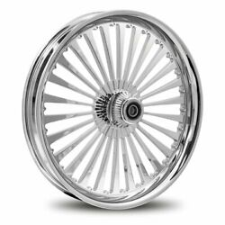 Dna Ss2 Chrome Forged Billet 21 X 2.15 Front Wheel Harley Softail Dyna