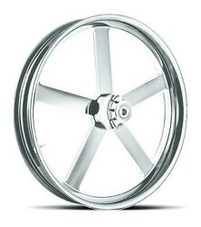 Dna Victory Chrome Forged Billet 23 X 3.75 Front Wheel Harley Fl Softail