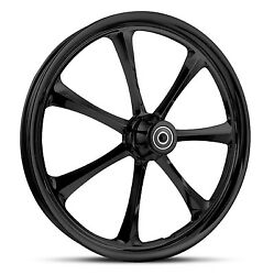 Dna Crystal Gloss Black Forged Billet Wheel 18 X 3.5 Rear Harley Touring