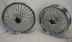 Dna Chrome Mammoth Fat 52 Spoke Wheels Harley 21x3.5 And 18x3.5 Softail Touring