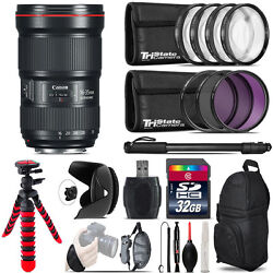 Canon 16-35mm 2.8l Iii Usm Lens + Macro Filter Kit And More - 32gb Accessory Kit