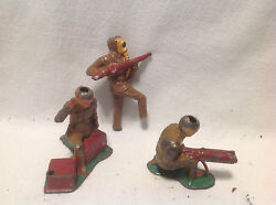 Vintage Barclay Lead Military Figures Toy Soldiers-3 Included