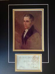 John Fielden - Cotton Mill Owner And Politician - Excellent Signed Display