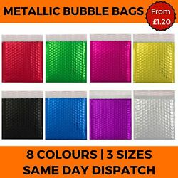 Metallic Bubble Envelope Mailing Bags Foil Gloss Postal Padded Pouch 8 Colours