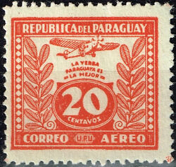 Paraguay Airplane Over Tobacco Plants Stamp 1933