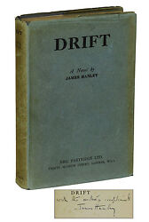 Drift By James Hanley Signed First Edition 1930 Rare 1st Book Irish Fiction
