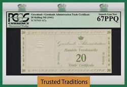 Tt Pk M7a 1941 Greenland 20 Skilling Military Issue Pcgs 67 Ppq Finest Known