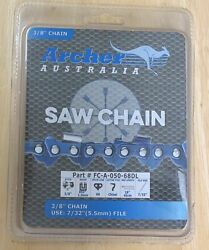 2 Pack 18 Archer Chainsaw Chain 3/8 Full Chisel .050 Gauge 68 Dl Drive Links