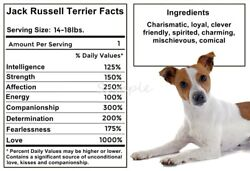 JACK RUSSELL TERRIER Facts LARGE FRIDGE MAGNET