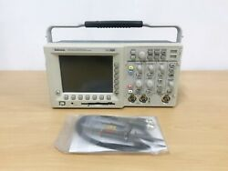 Tektronix Tds3012 100mhz 1.25gs/s 2ch Oscilloscope With P6100 Probes