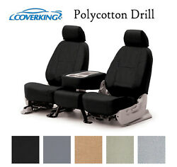 Coverking Custom Front Row Seat Covers Polycotton Drill Choose Color $159.99