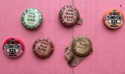 Rm009 Vintage Lot Of 6 1946 1984 U.b. And C.w. Of A. Buttons Teamsters Union