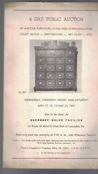 Guernsey Auction Catalog 1967 Antique Furniture Glass And China Spatterware