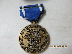 Nato In Service Of Peace And Freedom Medal And Ribbon  L@@k  Nice