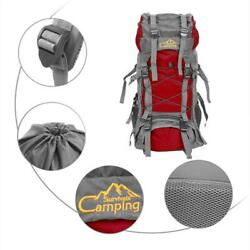 60L Outdoor Camping Hiking Climbing Large Bag Internal Frame Pack Backpack Green $24.69