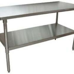Bk Resources Qvt-6030 60w X 30d 14 Gauge Stainless Steel Work Table