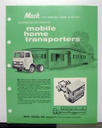 1969 Mack Truck Model Mb 401t 487t Sales Brochure And Specification Sheet