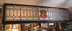 Large Vintage Stained Glass Window Panel 09250ns