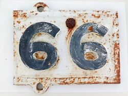 """.rare Qld Rail Early 1900s Partcast Iron Mileage Sign """"99, 66 Miles To Go"""""""