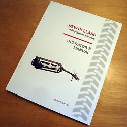New Holland 474 Haybine Mower Conditioner Operator's Owners Book Guide Manual Nh