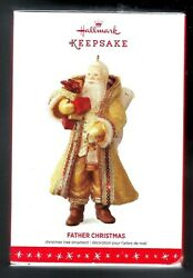 2016 Hallmark Gold and Amber Father Christmas Ornament 13th in Series New Mint $18.95