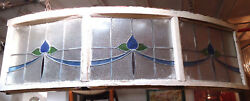 Large Vintage Stained Glass Window 09265ns