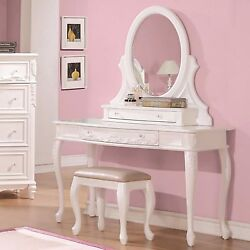 Fabulous White Vanity Dressing Table And Stool Bedroom Furniture Set