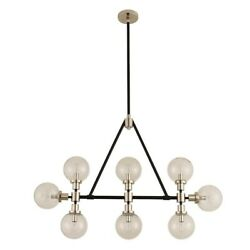 Kalco Cameo 8 Light Island Matte Black With Nickel Accents - 315453bpn