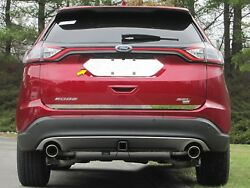 2015-2018 Ford Edge 1 Piece Stainless Steel License Plate Bezel. 4-door Suv