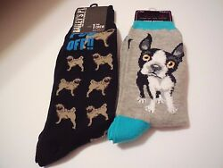 Socks NWT 4-Pair MenWomen Mixed Boston TerrierPug5-Nights at Freddy's