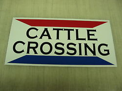 Cattle Crossing Metal Sign Ranch Golf Course Texas Dairy Farm Show Cow Bull